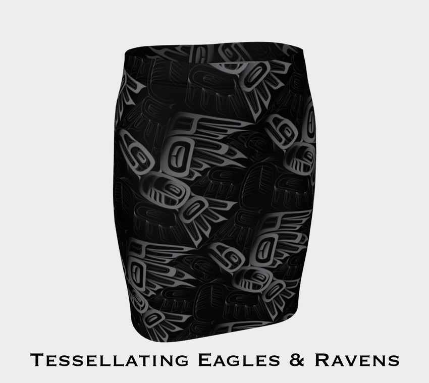 Eagle Raven Tessellation Fitted Skirt