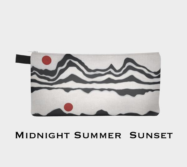 Midnight Summer Sunset Painting Pouch