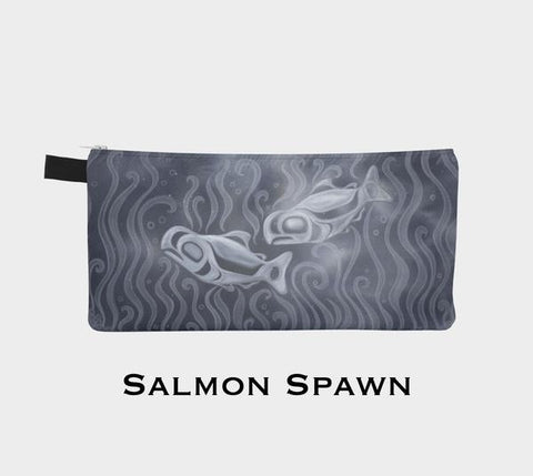 Salmon Spawn Painting Pouch