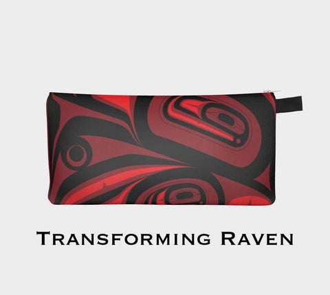 Transforming Raven Painting Pouch