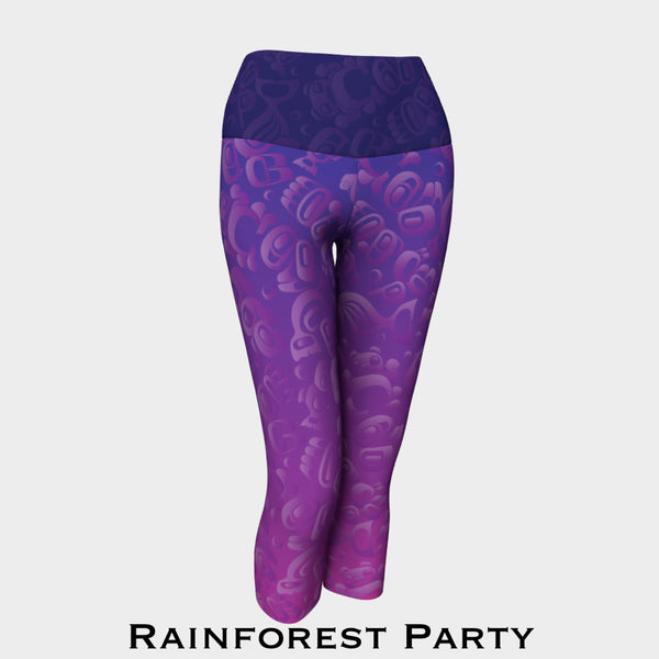 Rainforest Party Capri Leggings