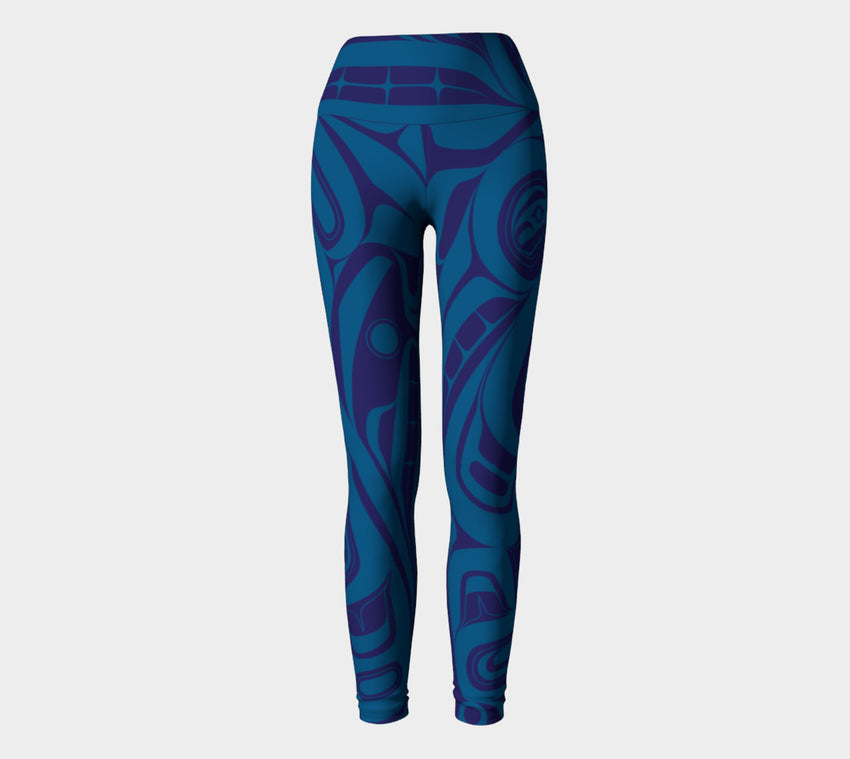 Blue Killer Whale Leggings