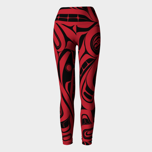 Red Killer Whale Leggings