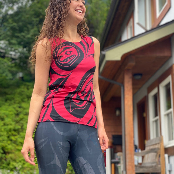 Red Killer Whale Loose Tank Top