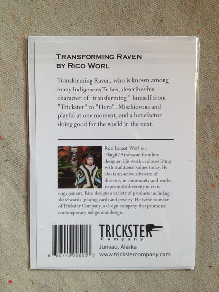 Transforming Raven Red Note Card