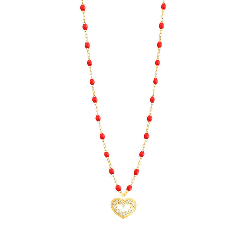 Gigi Clozeau - Heart Supreme Classic Gigi Poppy diamond necklace, Yellow Gold, 16.5