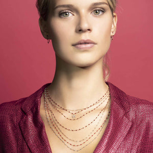 Gigi Clozeau - Classic Gigi Cherry necklace, Yellow Gold, 17.7""