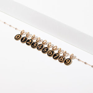 Gigi Clozeau - Number 2 Black pendant, Rose Gold