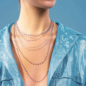 Gigi Clozeau - Classic Gigi Midnight necklace, Rose Gold, 17.7""