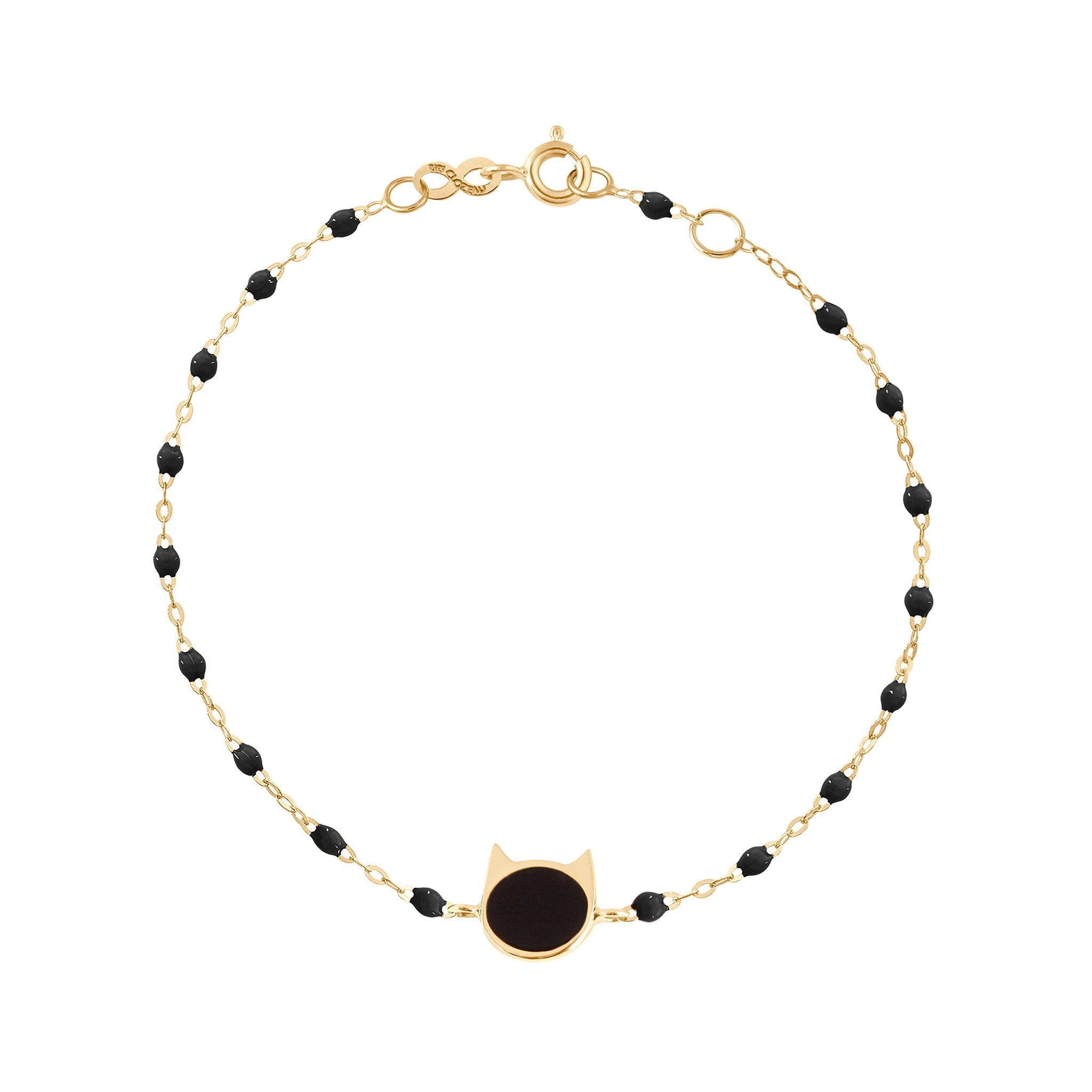 Gigi Clozeau - Cat Classic Gigi Black bracelet, Yellow Gold, 6.7