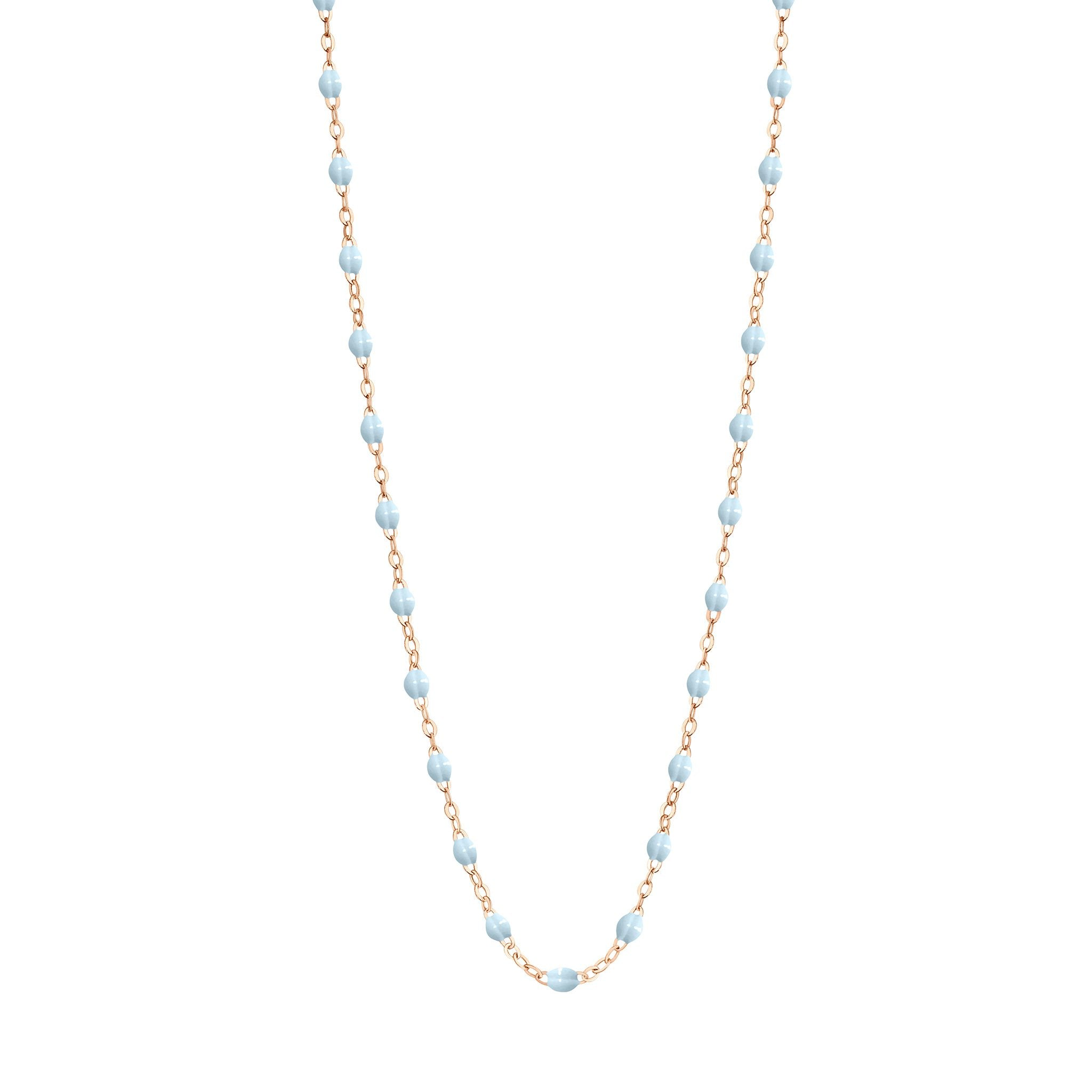 Gigi Clozeau - Classic Gigi Baby Blue necklace, Rose Gold, 16.5""