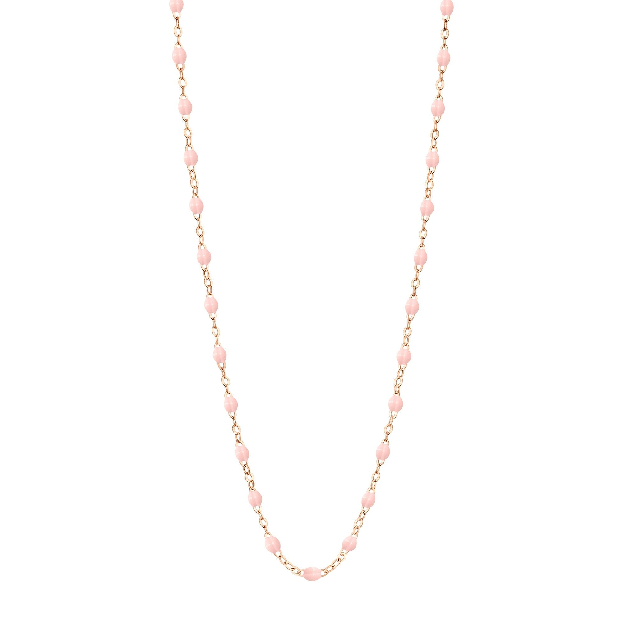 Gigi Clozeau - Classic Gigi Baby Pink necklace, Rose Gold, 19.7""