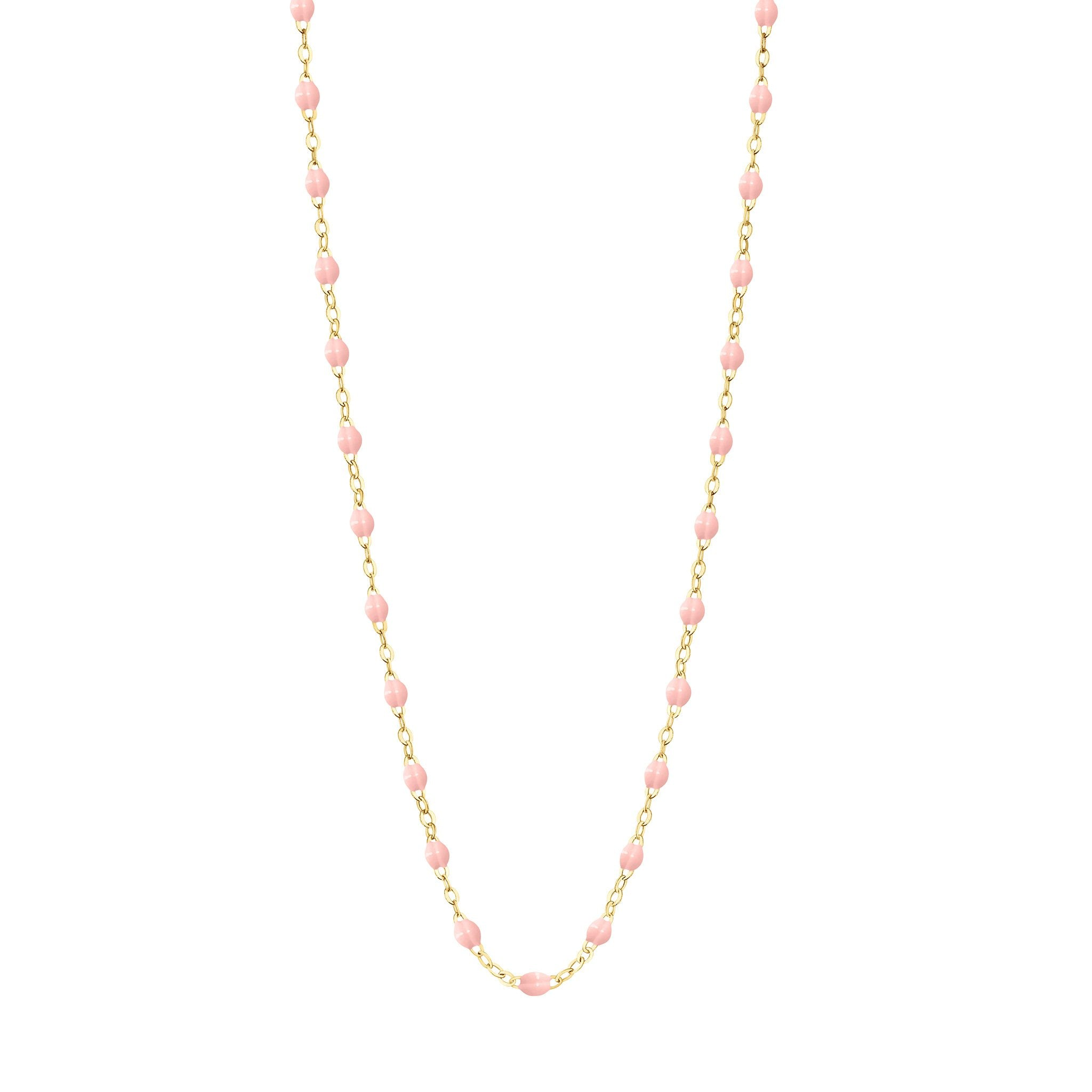 Gigi Clozeau - Classic Gigi Baby Pink necklace, Yellow Gold, 17.7""