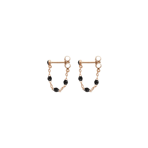 Gigi Clozeau - Classic Gigi Black earrings, Rose Gold