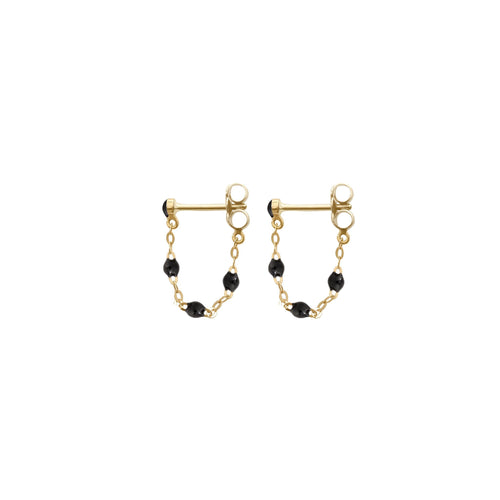 Gigi Clozeau - Classic Gigi Black earrings, Yellow Gold