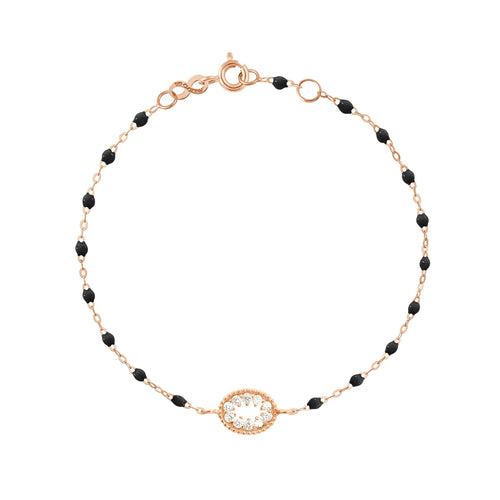 Gigi Clozeau - Classic Gigi Black Me Hearty Bracelet, Rose Gold, 6.7