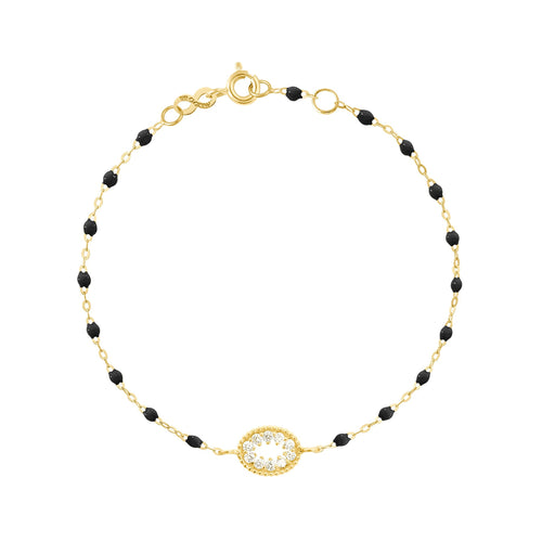 Gigi Clozeau - Classic Gigi Black Me Hearty Bracelet, Yellow Gold, 6.7