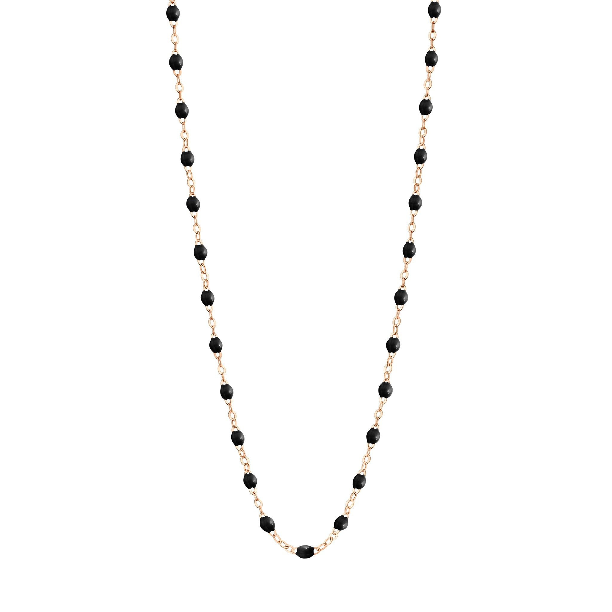 Gigi Clozeau - Classic Gigi Black necklace, Rose Gold, 19.7""