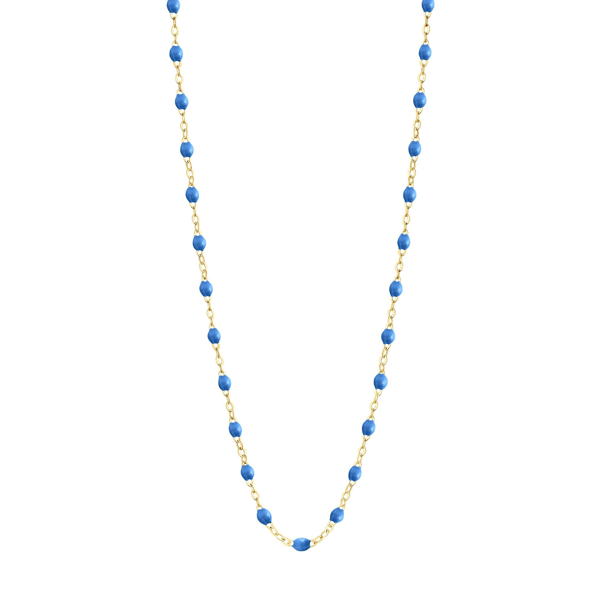 Gigi Clozeau - Classic Gigi Blue necklace, Yellow Gold, 19.7""