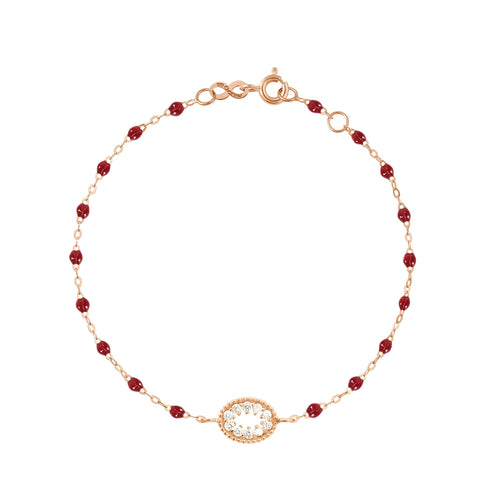 Gigi Clozeau - Classic Gigi Cherry Me Hearty Bracelet, Rose Gold, 6.7