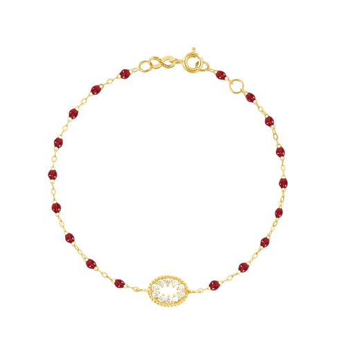 Gigi Clozeau - Classic Gigi Cherry Me Hearty Bracelet, Yellow Gold, 6.7