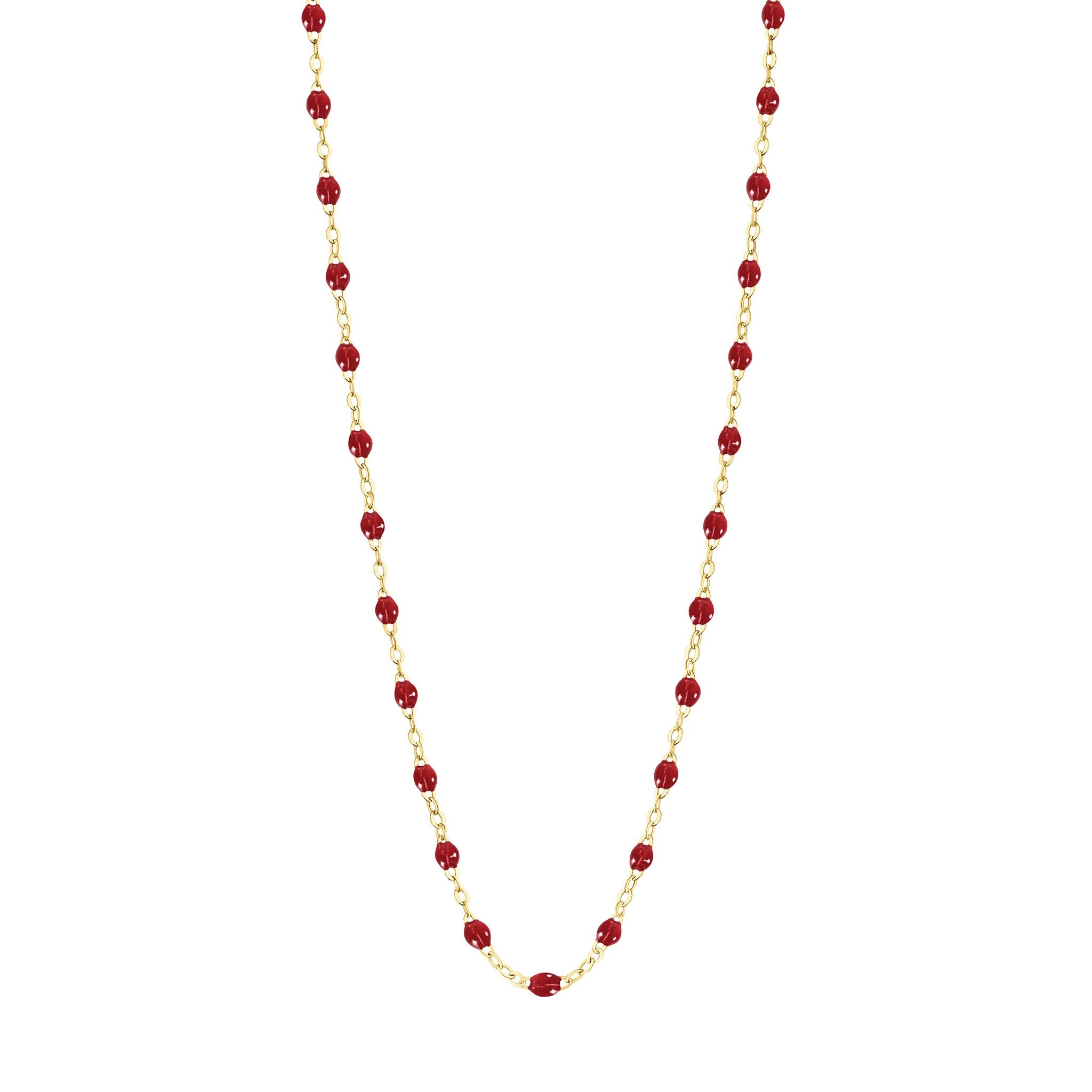 Gigi Clozeau - Classic Gigi Cherry necklace, Yellow Gold, 17.7