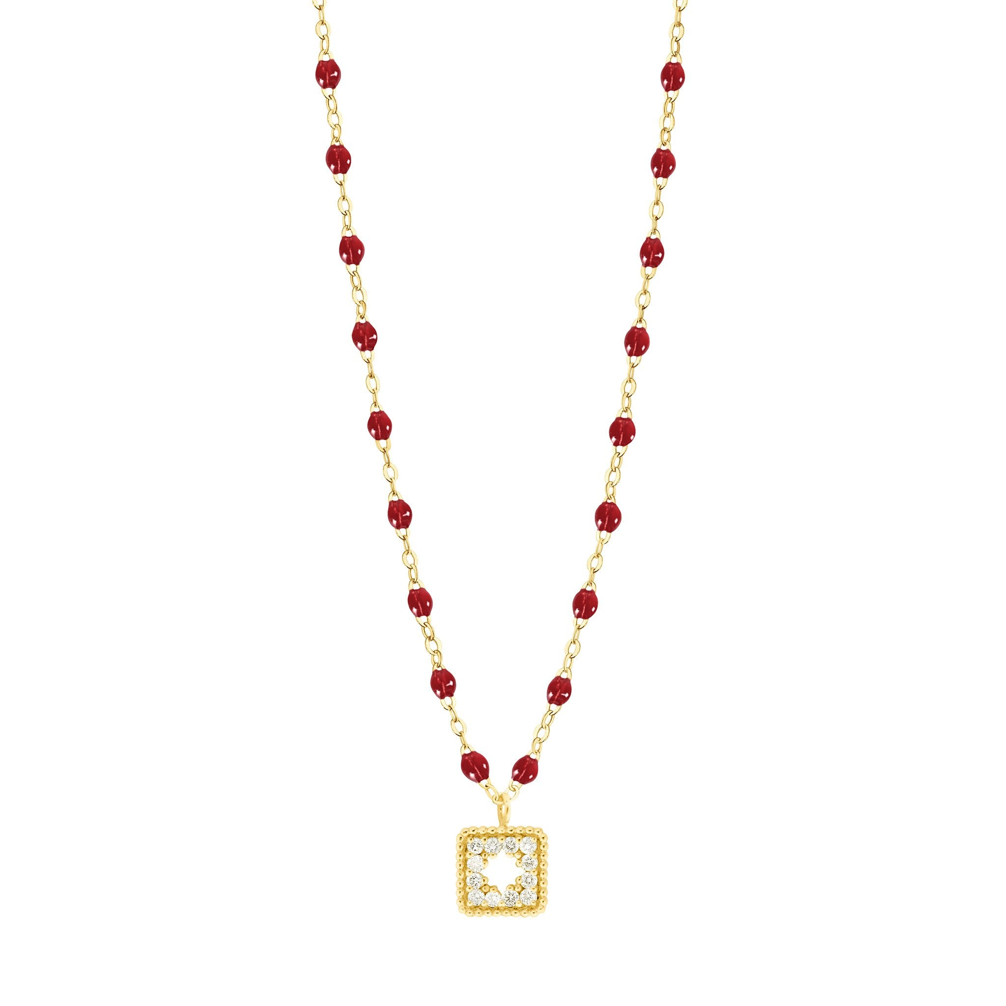 Gigi Clozeau - Classic Gigi Cherry Treasure Necklace Yellow Gold, 16.5