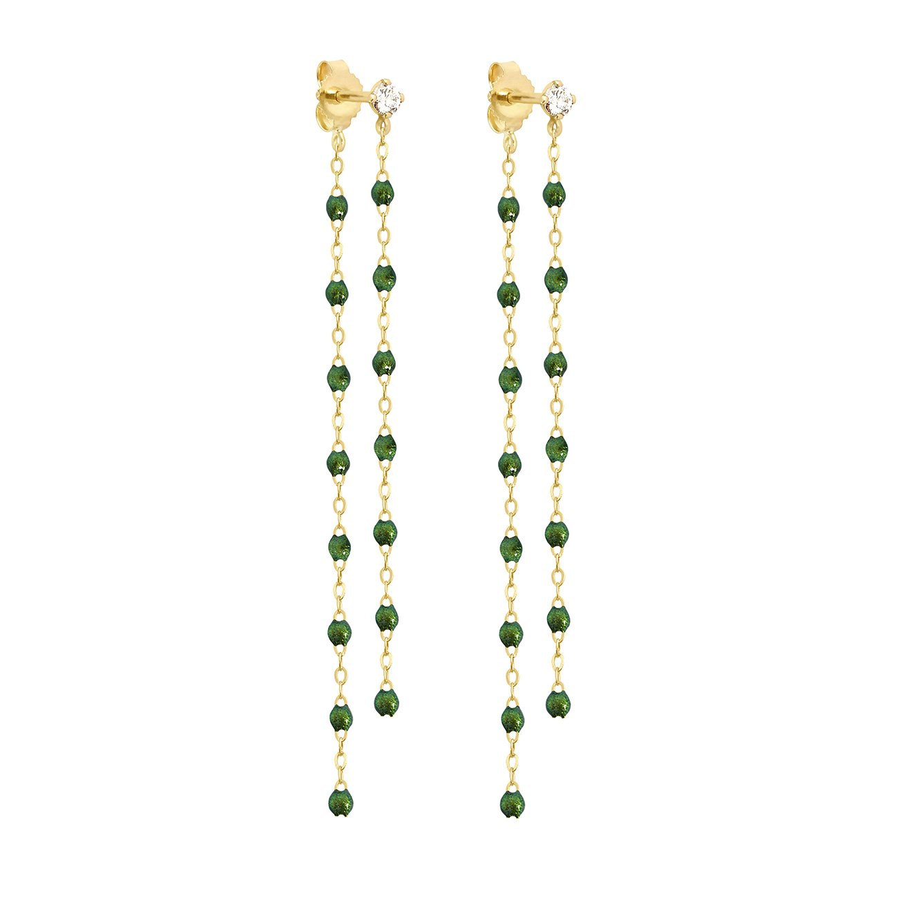 Gigi Clozeau - Classic Gigi dangling Scarab diamond earrings, Yellow Gold