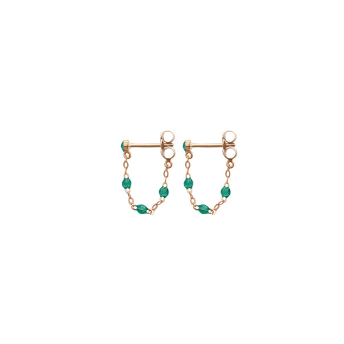 Gigi Clozeau - Classic Gigi Emerald earrings, Rose Gold