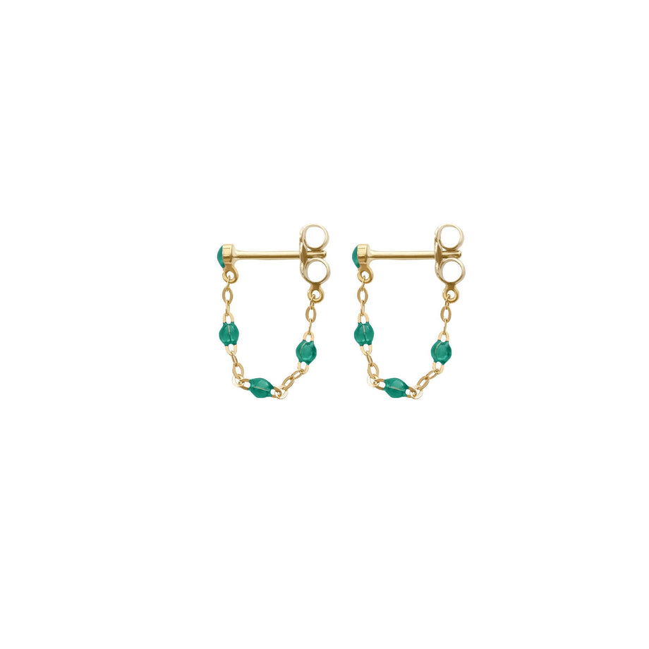 Gigi Clozeau - Classic Gigi Emerald earrings, Yellow Gold