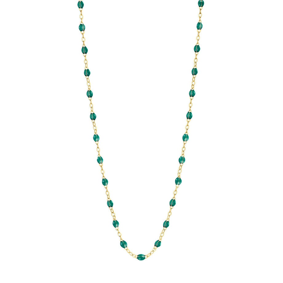 Gigi Clozeau - Classic Gigi Emerald necklace, yellow gold, 16.5