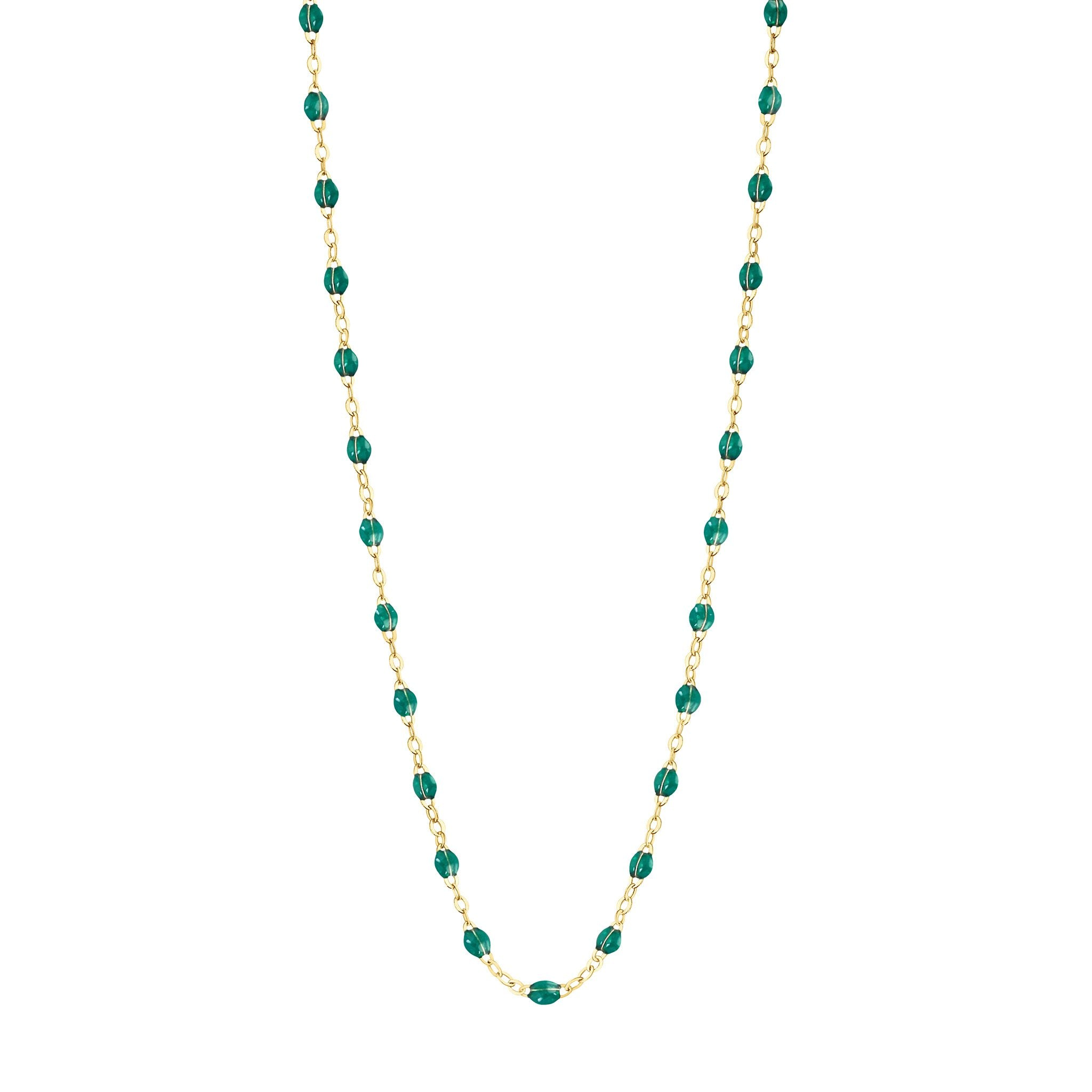 Gigi Clozeau - Classic Gigi Emerald necklace, Yellow Gold, 17.7
