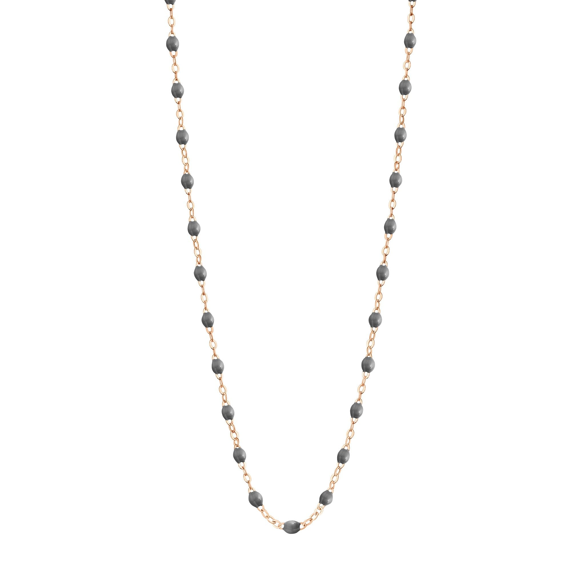 Gigi Clozeau - Classic Gigi Grey necklace, Rose Gold, 16.5""
