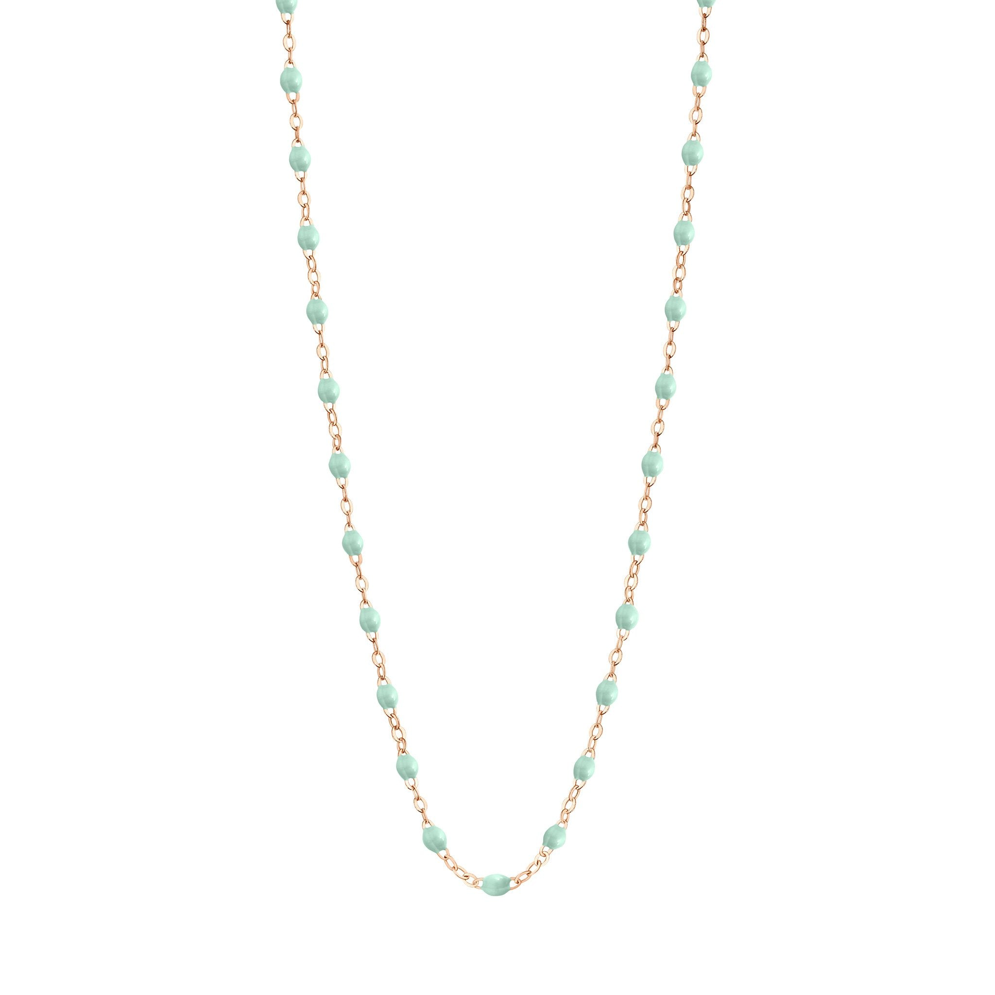 Gigi Clozeau - Classic Gigi Jade necklace, Rose Gold, 19.7