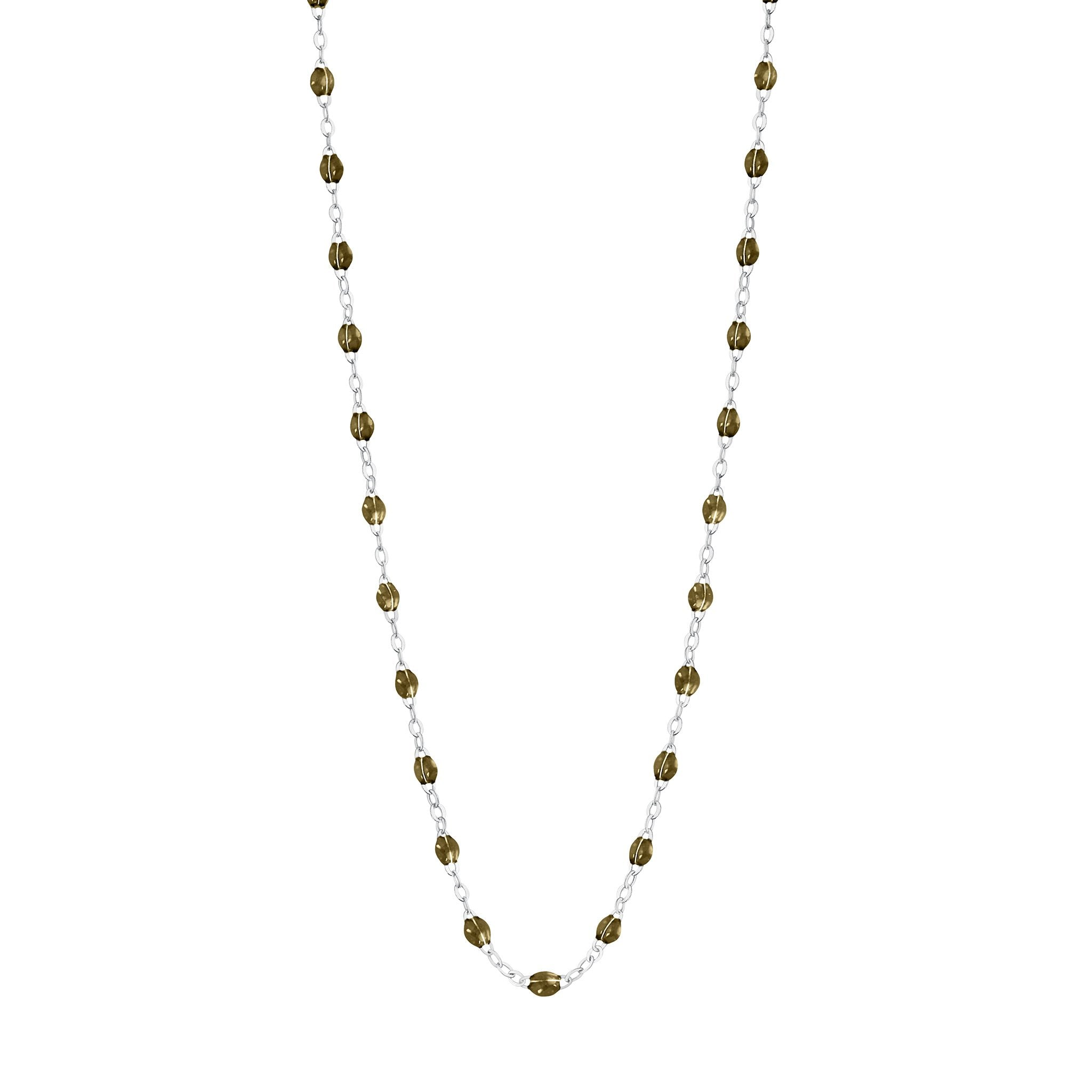 Gigi Clozeau - Classic Gigi Khaki necklace, White Gold, 16.5""