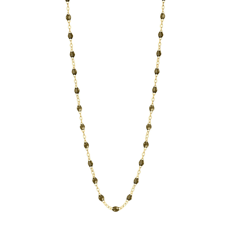 Gigi Clozeau - Classic Gigi Khaki necklace, yellow gold, 16.5