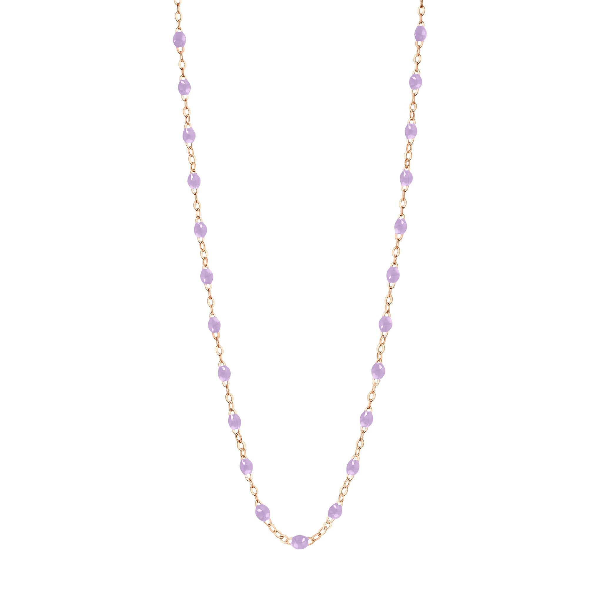 Gigi Clozeau - Classic Gigi Lilac necklace, Rose Gold, 16.5""