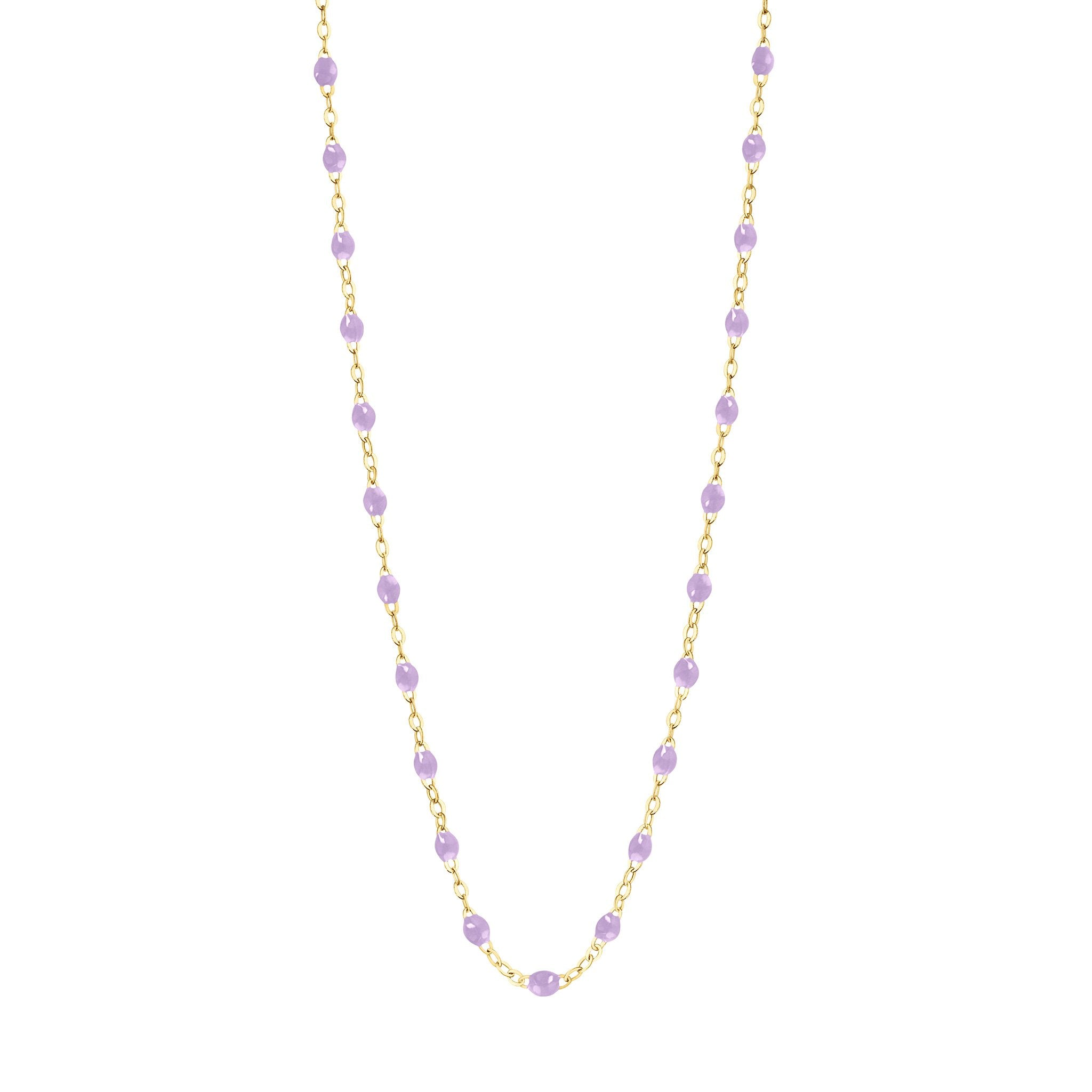 Gigi Clozeau - Classic Gigi Lilac necklace, Yellow Gold, 19.7