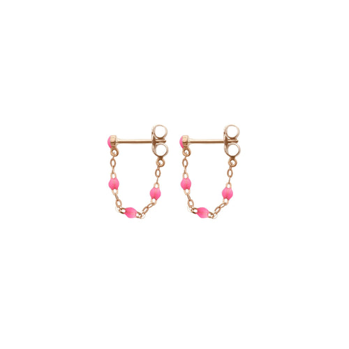 Gigi Clozeau - Classic Gigi Pink earrings, Rose Gold