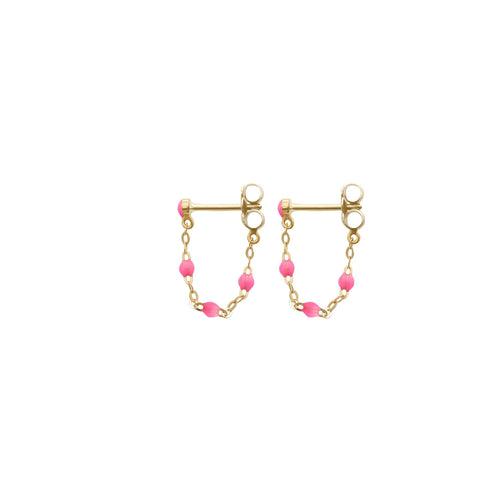 Gigi Clozeau - Classic Gigi Pink earrings, Yellow Gold