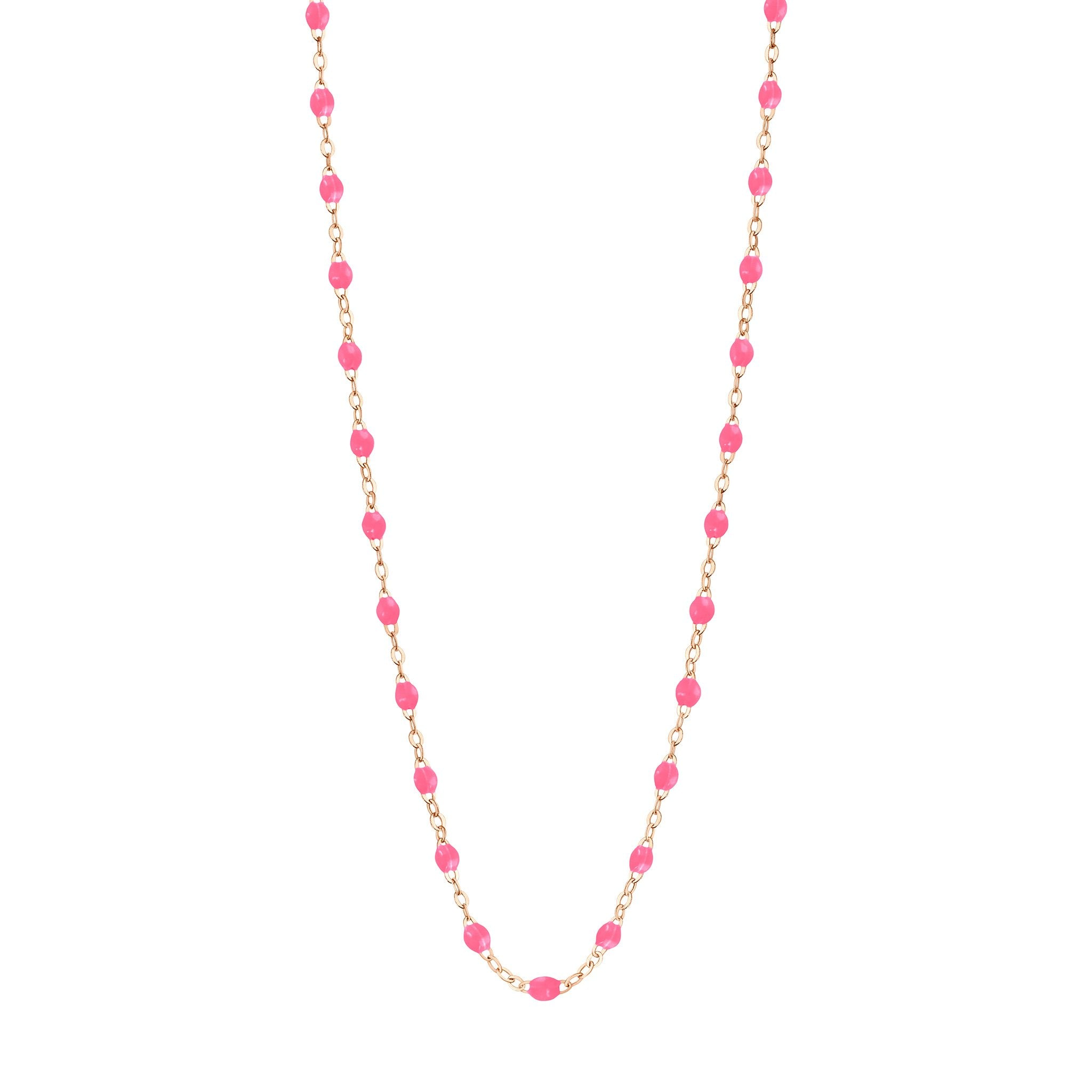 Gigi Clozeau - Classic Gigi Pink necklace, Rose Gold, 16.5