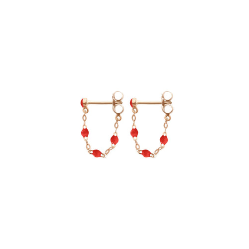 Gigi Clozeau - Classic Gigi Poppy earrings, Rose Gold