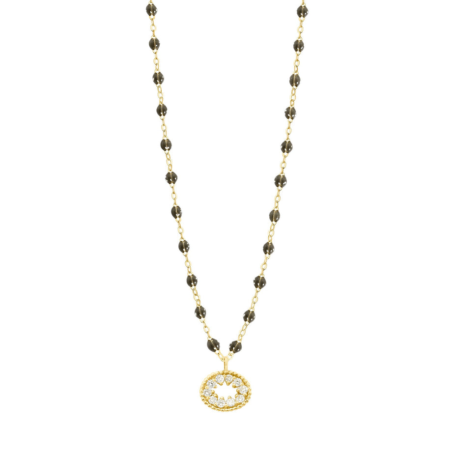 Gigi Clozeau - Classic Gigi Quartz Me Hearty Necklace, Yellow Gold, 16.5