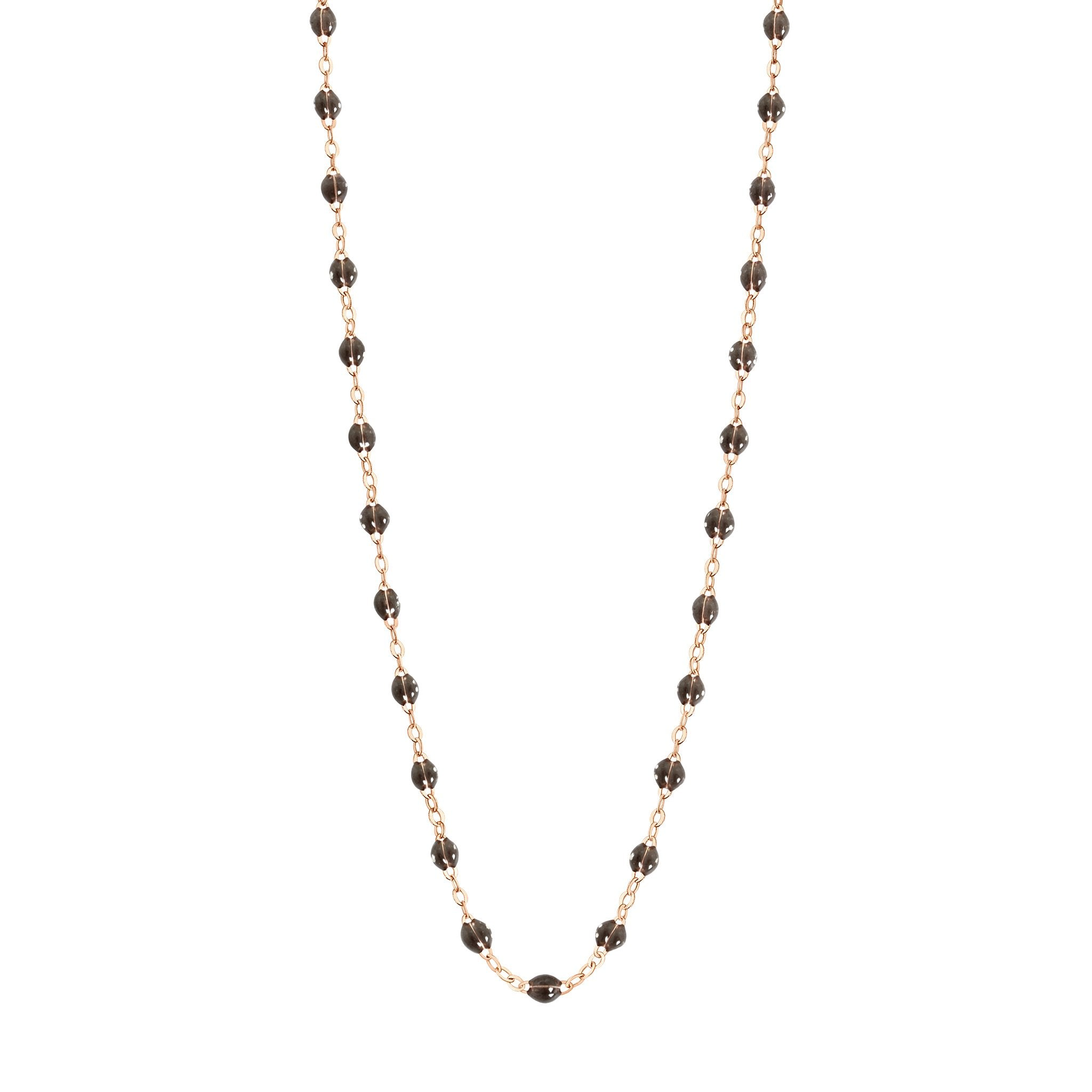 Gigi Clozeau - Classic Gigi Quartz Necklace, Rose Gold, 16.5""