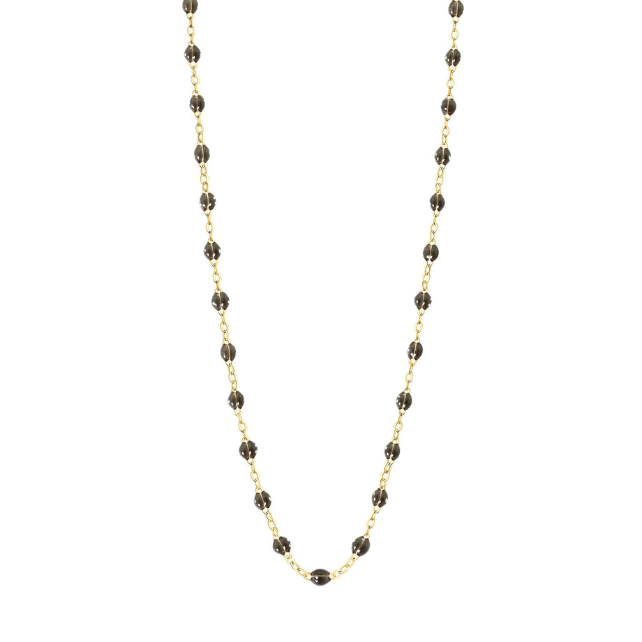 Gigi Clozeau - Classic Gigi Quartz Necklace, Yellow Gold, 16.5