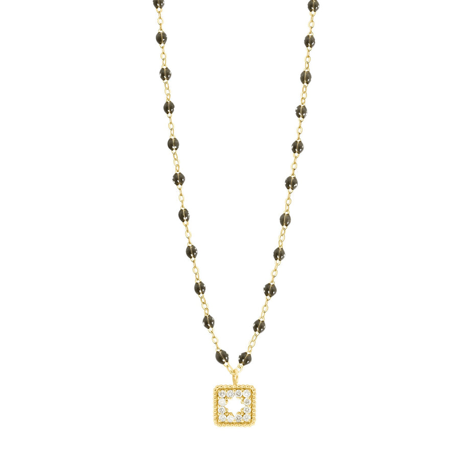 Gigi Clozeau - Classic Gigi Quartz Treasure Necklace Yellow Gold, 16.5