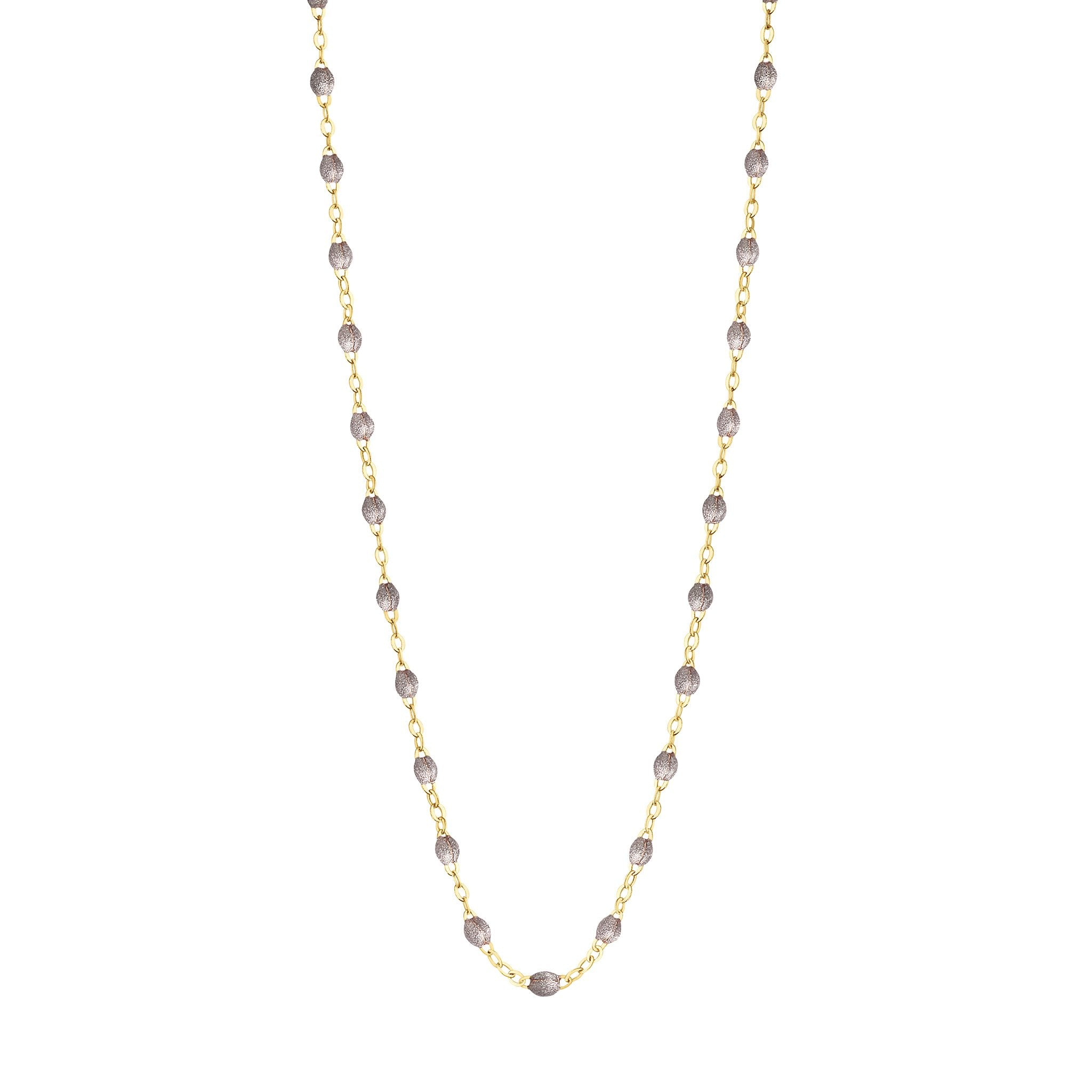 Gigi Clozeau - Classic Gigi Silver necklace, Yellow Gold, 17.7""