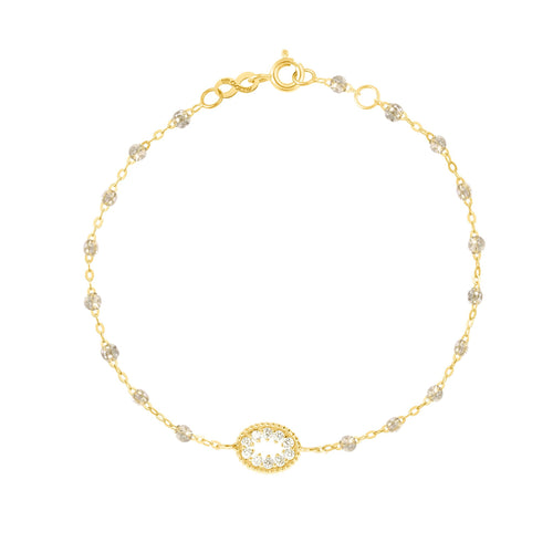 Gigi Clozeau - Classic Gigi Sparkle Me Hearty Bracelet, Yellow Gold, 6.7