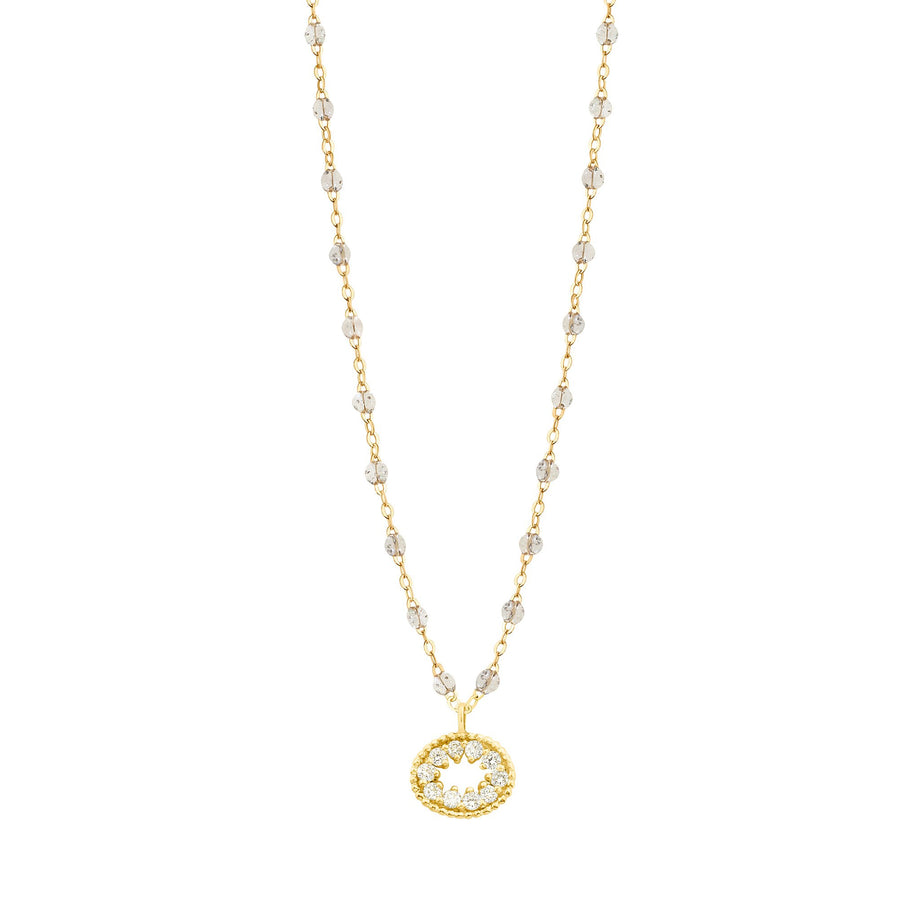 Gigi Clozeau - Classic Gigi Sparkle Me Hearty Necklace, Yellow Gold, 16.5