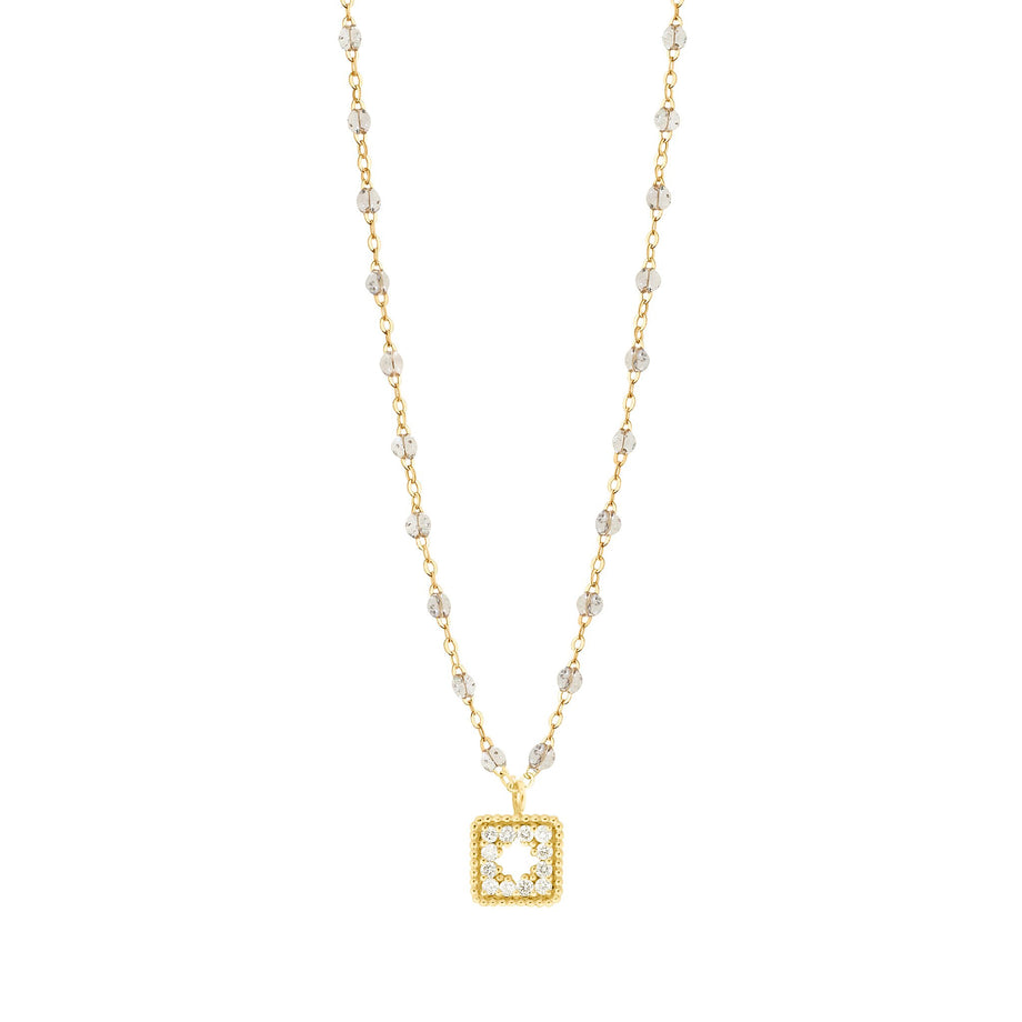 Gigi Clozeau - Classic Gigi Sparkle Treasure Necklace Yellow Gold, 16.5